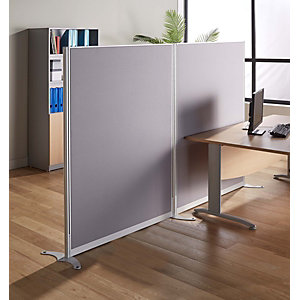 Cloison de séparation acoustique All-coust - 160 x 120 cm - Tissu gris