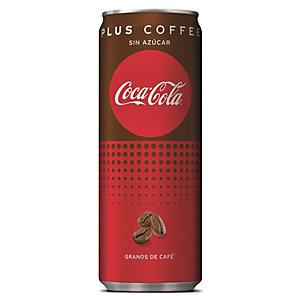 Coca-Cola Plus Coffee Refresco sin azúcar con extracto de café, 250 ml