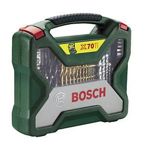 Coffret 70 pièces Bosch pour le perçage et le vissage