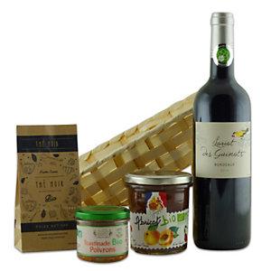 Coffret cadeau Bio - Panier gourmand prêt à offrir - 4 éléments
