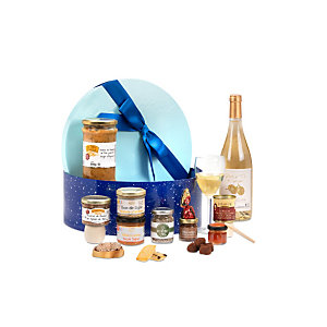 Coffret cadeau Boîte Goumande - Panier gourmand prêt à offrir - 17 éléments