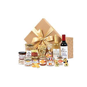 Coffret cadeau Boîte Gourmande - Panier gourmand prêt à offrir - 16 éléments
