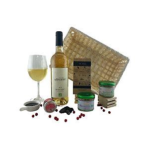 Coffret cadeau Corbeille Bio - Panier gourmand prêt à offrir - 5 éléments