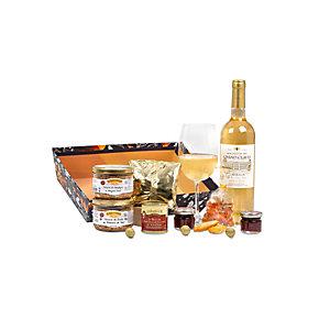 Coffret cadeau Corbeille Délice - Panier gourmand prêt à offrir - 8 éléments