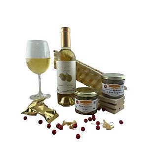 Coffret cadeau Corbeille Plaisir - Panier gourmand prêt à offrir - 4 éléments