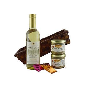 Coffret cadeau Corbeille Plaisir - Panier gourmand prêt à offrir - 5 éléments