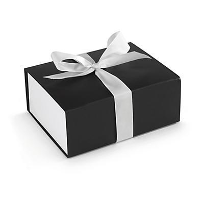 Coffret cadeau avec ruban blanc##Geschenkbox mit weisser Schleife
