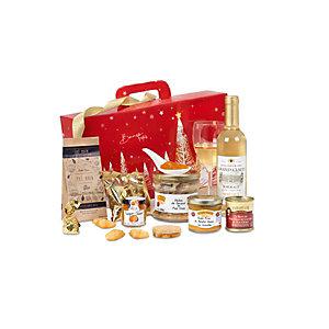 Coffret cadeau Valisette Douceur - Panier gourmand prêt à offrir - 9 éléments