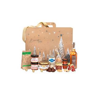 Coffret cadeau Valisette sans porc et sans alcool - Panier gourmand prêt à offrir -15 éléments