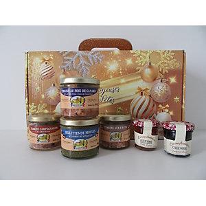 Coffret cadeau Valisette Régal - Panier gourmand prêt à offrir - 6 éléments