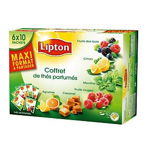 Coffret de thés Lipton, assortiment de 60 sachets