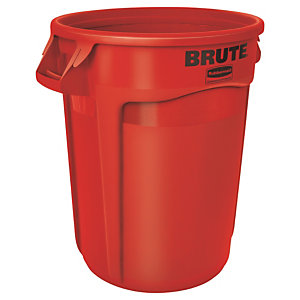 Collecteur 120 L rouge Brute de Rubbermaid