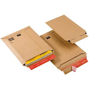COLOMPAC Busta a sacco CP 010 in cartone - adesivo permanente - formato A4+ (235x340 mm) - altezza massima 35 mm - ColomPac