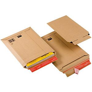 COLOMPAC Busta a sacco CP 010 in cartone - adesivo permanente - formato A5 (185x270 mm) - altezza massima 50 mm - ColomPac