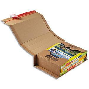 COLOMPAC Etui d'expédition rigide en carton brun - Format C4 : 32,5 x 25 cm, hauteur 8 cm