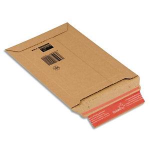 COLOMPAC Pochette d'expédition rigide en carton brun - Format : 25 x 36 cm, hauteur 5 cm