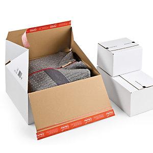 COLOMPAC Scatola per spedizioni E Commerce - 38,9x32,4x32 cm - cartone bianco - Colompac