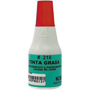Colop 210 Tinta grasa para sellos de ruedas metálicas roja 25 ml.