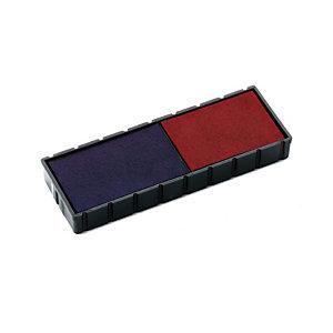 Colop Almohadilla de recambio fechador bicolor azul/rojo