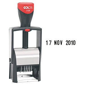 Colop Classic Line 2100/4 Microban Sello fechador metálico con entintaje automático