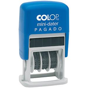 Colop Mini-dater S 160/L1 Sello fechador Pagado con entintaje automático