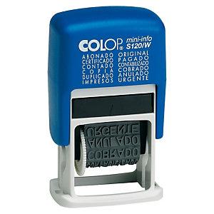 Colop Mini-info S120/W Sello multifórmula comercial con entintaje automático