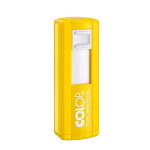 Colop Pocket Stamp Plus Timbro personalizzabile, 38 x 14 mm, Giallo
