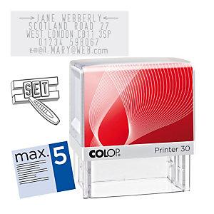 Colop Printer 30/1 Set Sello de entintaje automático con imprentilla