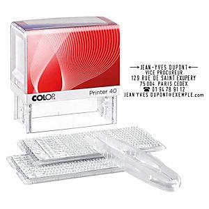 Colop Printer 40/2 Set Sello de entintaje automático con imprentilla