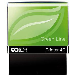 Colop Printer 40 Green Line Sello personalizable reciclado con entintaje automático tinta azul