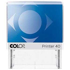 Colop Printer 40 Microban® Sello personalizable con tratamiento antibacteriano y entintaje automático tinta negra