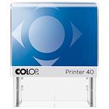 Colop Printer 40 Microban® Sello personalizable con tratamiento antibacteriano y entintaje automático tinta roja