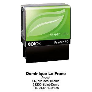 Colop Tampon encreur personnalisable Printer 30 Green Line - 5 lignes