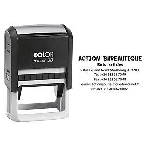 Colop Tampon encreur personnalisable Printer 38 - Noir - 7 lignes