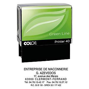 Colop Tampon encreur personnalisable Printer 40 Green Line - 6 lignes