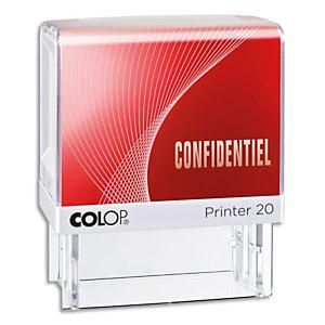 COLOP Timbre à encrage automatique , empreinte rouge 38x14 mm : CONFIDENTIEL