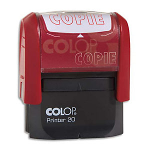 COLOP Timbre à encrage automatique , empreinte rouge 38x14 mm : COPIE