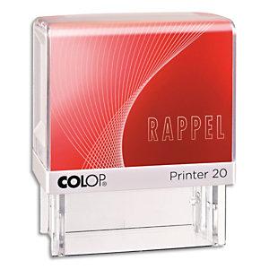 COLOP Timbre à encrage automatique , empreinte rouge 38x14 mm : RAPPEL