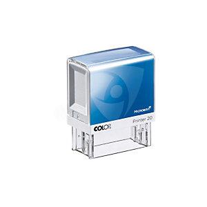 Colop Timbro autoinchiostrante personalizzabile Printer 20 Microban®, 38 x 14 mm, 4 righe di testo