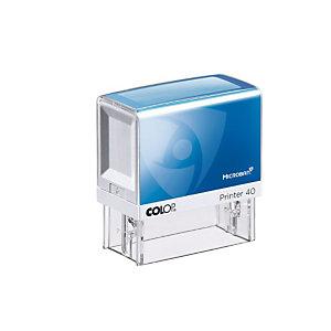 Colop Timbro autoinchiostrante personalizzabile Printer 40 Microban®, 59 x 23 mm, 6 righe di testo
