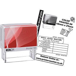 Colop Timbro personalizzabile a 7 righe - cm 9,5 x 4,5 x 10,5 h.