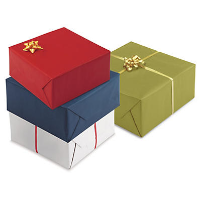 Coloured Kraft paper gift wrap