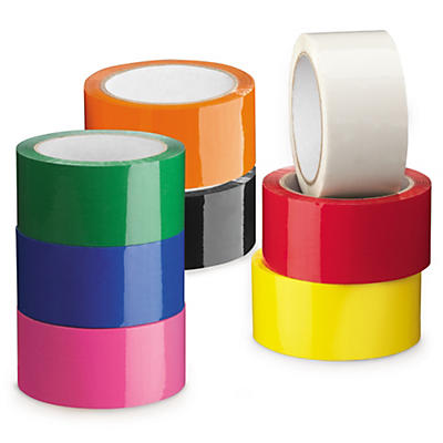 Coloured polypropylene packaging tape