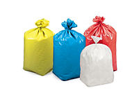 Coloured refuse sacks