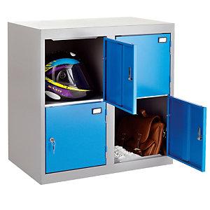 Combibloc 4 cases gris/bleu