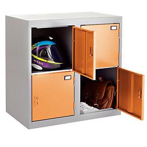 Combibloc 4 cases gris/orange
