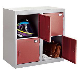 Combibloc 4 cases gris/rouge