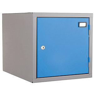 Combiblok : individueel vak grijs / blauw