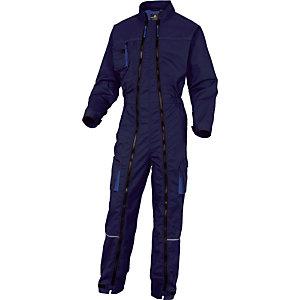 Combinaison de travail Mach2 bleu marine et bleu roi double zip DeltaPlus, Taille XL