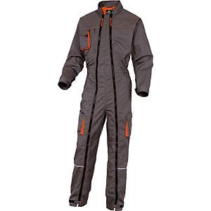 Combinaison de travail Mach2 grise et orange double zip DeltaPlus, Taille XL